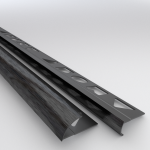 10 X Vroma Brushed Black Quadrant 2.5M Heavy Duty Aluminium Tile Trims