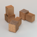 CJ extrusions render 237 box corner block bronze brushed