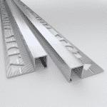 10 X Vroma Mill Finish Box Square Edge 2.5M Heavy Duty Aluminium Tile Trims