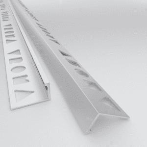 10 X Vroma Matt Chrome Straight Edge L-Shape 2.5M Heavy Duty Aluminium Tile Trims
