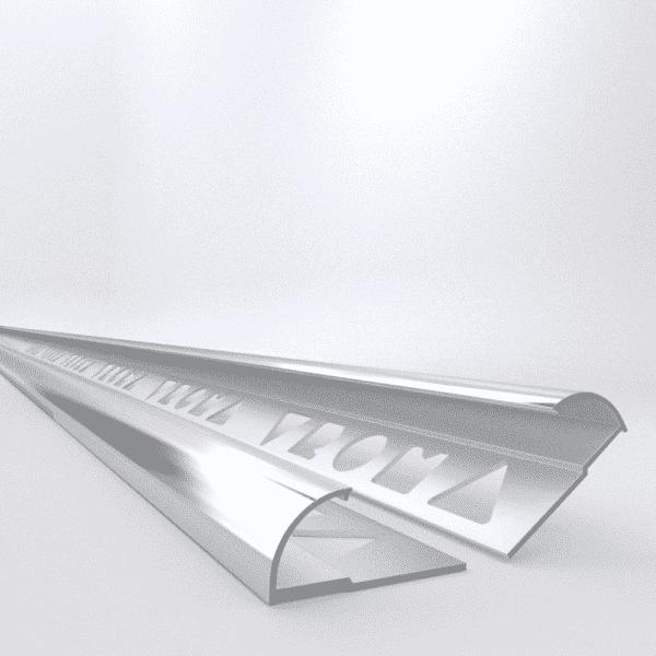 10 X Vroma Bright Chrome Quadrant 2.5M Heavy Duty Aluminium Tile Trims