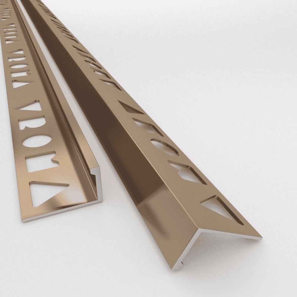 Vroma Bright Bronze Straight Edge L Shape 2 5m Heavy Duty