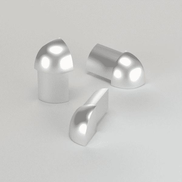 CJ extrusions render 239 round external corner block matte