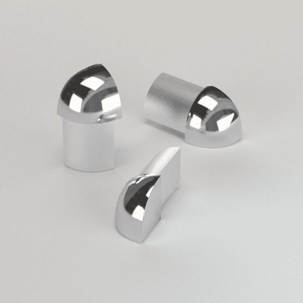 CJ extrusions render 239 round external corner bright chrome
