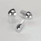 Vroma Bright Chrome Round/Quadrant Aluminium Corner blocks - 8mm-external - bright-chrome - quadrant