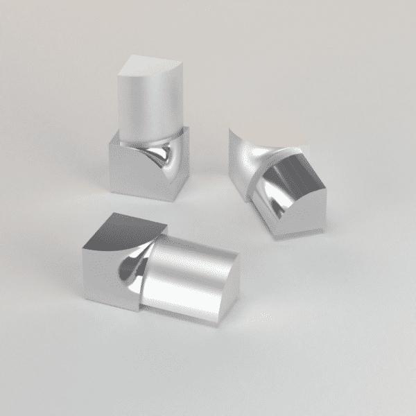 CJ extrusions render 241 round inner corner polished