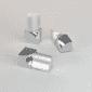 Vroma Bright Chrome Round/Quadrant Aluminium Corner blocks - 8mm-internal - bright-chrome - quadrant