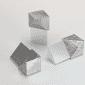 Vroma Deep Brushed Chrome Triangle Aluminium Corner blocks - 10mm-internal