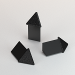 CJ extrusions render 245 triangle black brushed