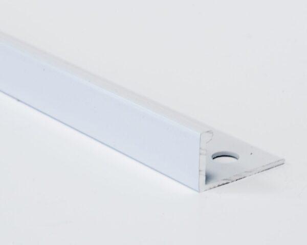 Vroma Brilliant White Straight Edge L-Shape 2.5M Heavy Duty Aluminium Tile Trims