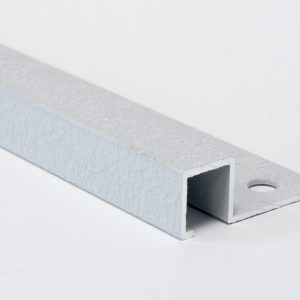 Vroma Textured Snow White Box Square Edge 2.5M Heavy Duty Aluminium Tile Trims