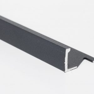 Vroma Matt Grey Straight Edge L-Shape 2.5M Heavy Duty Aluminium Tile Trims