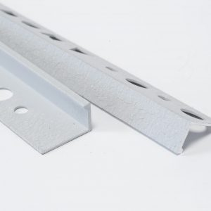 Textured Snow White Straight Edge L-Shape 2.5M Heavy Duty Aluminium Tile Trims