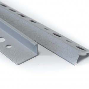 Textured Light Grey Straight Edge L-Shape 2.5M Heavy Duty Aluminium Tile Trims