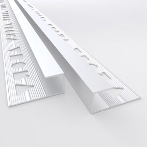 Vroma Matt Chrome Box Capping 2.5M Heavy Duty Aluminium Tile Trims