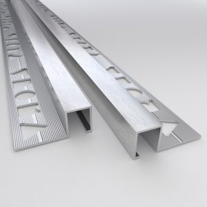 Vroma Mill Finish Box Square Edge 2.5M Heavy Duty Aluminium Tile Trims