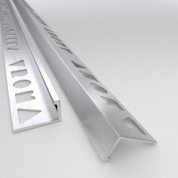 Vroma Mill Finish Straight Edge L-Shape 2.5M Heavy Duty Aluminium Tile Trims
