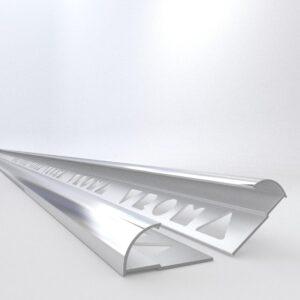 Tile Trims by Vroma Bright Chrome Quadrant 2.5M Heavy Duty Aluminium