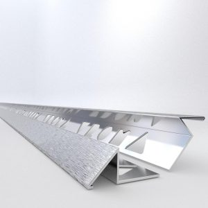 Vroma Deep Brushed Chrome Triangle 2.5M Heavy Duty Aluminium Tile Trims