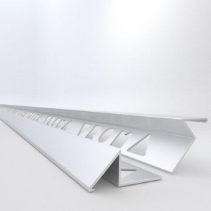 Vroma Matt Chrome Triangle 2.5M Heavy Duty Aluminium Tile Trims