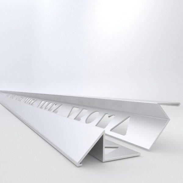 Vroma Matt Chrome Triangle 2.5M Heavy Duty Aluminium Tile Trims