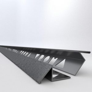 Vroma Brushed Black Triangle 2.5M Heavy Duty Aluminium Tile Trims