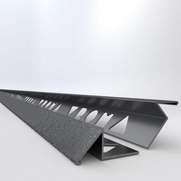 Vroma Brushed Black Triangle 2.5M Heavy Duty Aluminium Tile Trims