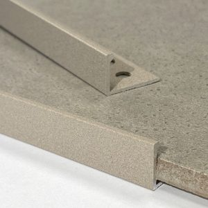 Light Grey Stone Straight Edge L-Shape 2.5M Heavy Duty Aluminium Tile Trims