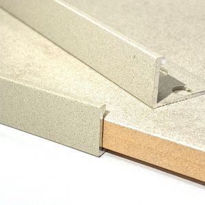 Sandstone Straight Edge L-Shape 2.5M Heavy Duty Aluminium Tile Trims