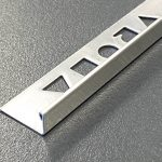 Vroma Brushed Finish L Shape 2.5M Heavy Duty 304 Stainless Steel Tile Trims - 8mm - 10