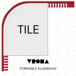 Vroma Formable Mill Finish L Shape 2.5M Heavy Duty Tile Trims - 15mm - 1